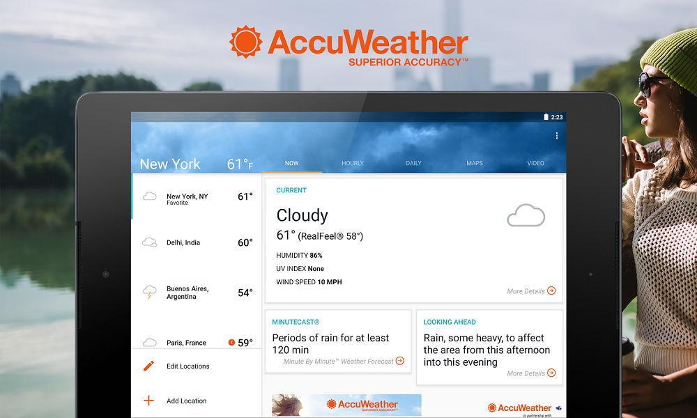 Погодное приложение Aсcuweather