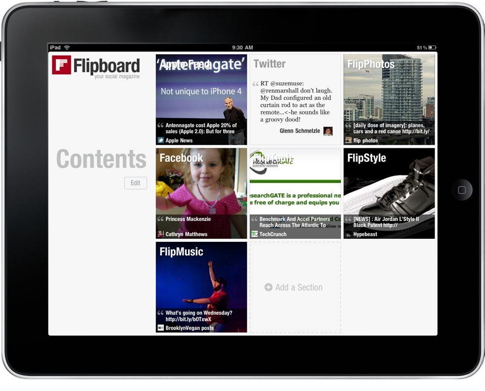 Скриншот программы Flipboard
