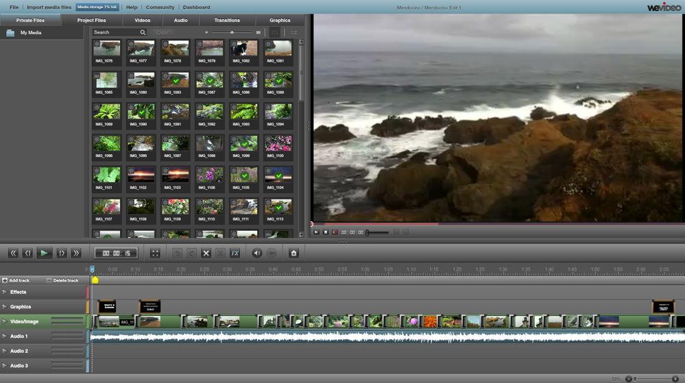 Облачное приложение WeVideo