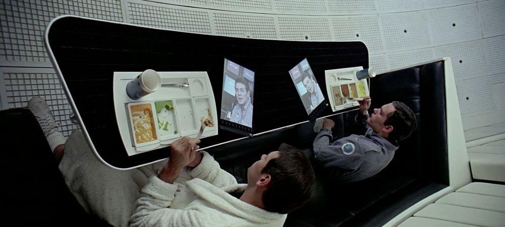 Так выглядел первый планшет в фантастическом фильме по книге Артура Кларка «2001: Космическая Одиссея»