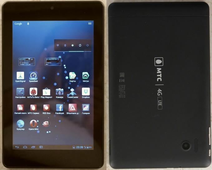 Экран планшета МТС 1078 обладает достаточной яркостью