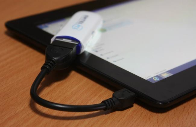 Подключить модем к планшету достаточно легко
