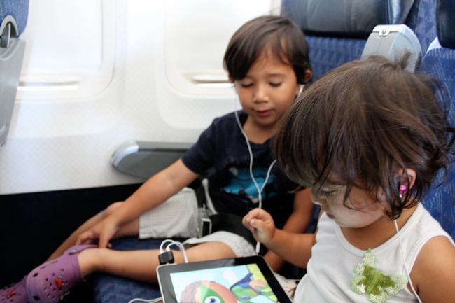 Во время полета можно использовать планшет