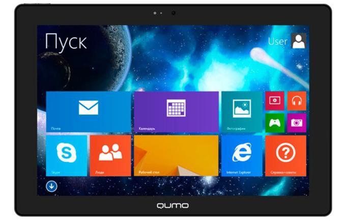Без док станции Qumo Sirius 1002w выглядит как обычный планшет
