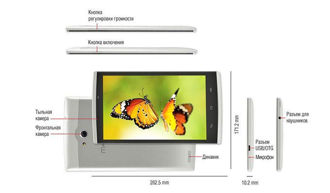 Планшет SENKATEL Maximus S1 имеет стандартные открытые разъемы и средства управления