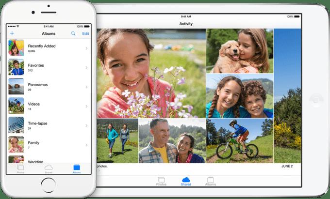 Family Sharing позволяет легко делиться контентом