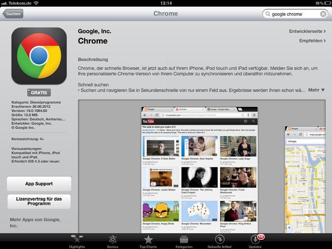 Интерфейс браузераGoogle Chrome