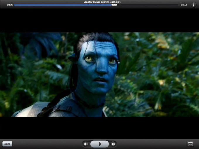 Интерфейс видеоплеера PlayerXtreme HD