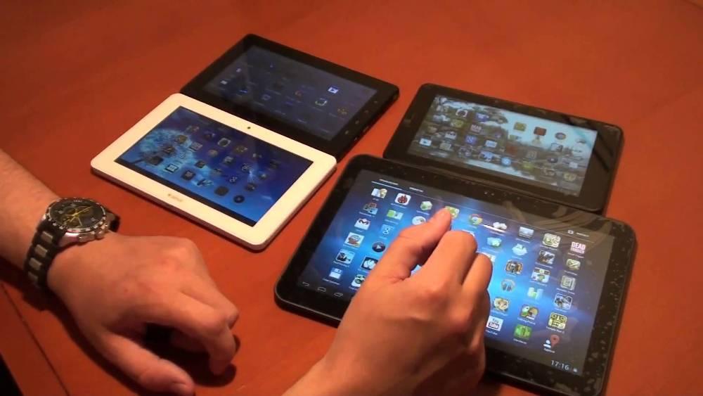 Разнообразные китайские планшеты