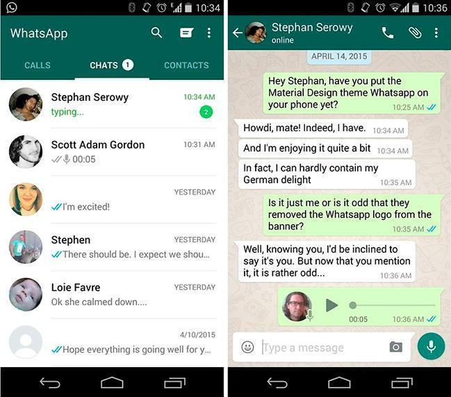 Android мессенджер WhatsApp