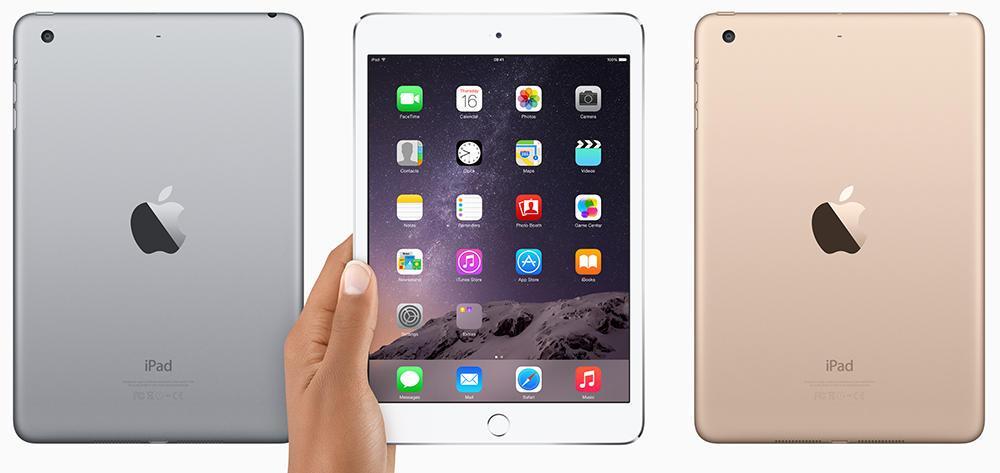 Цветовые схемы iPad mini 3
