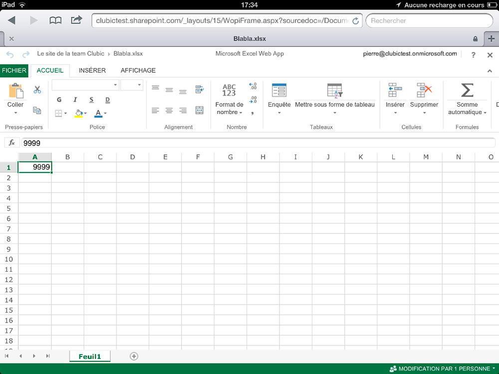 Табличный редактор Excel для iPad