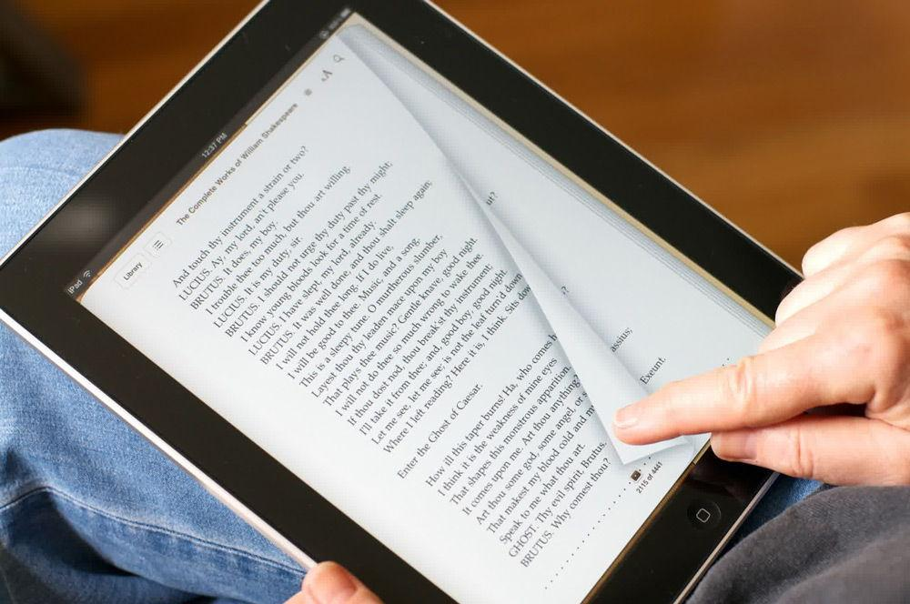 Чтение книги на iPad