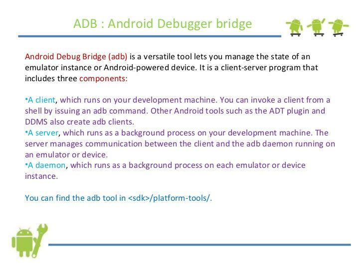Описание Android Debug Bridge