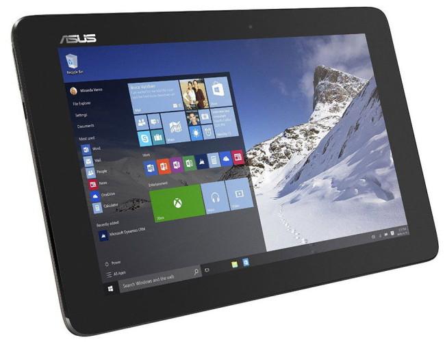 Установленная ОС Windows 10 на планшете