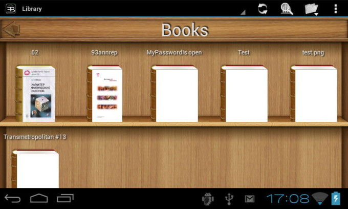 Обзор программы EBookDroid
