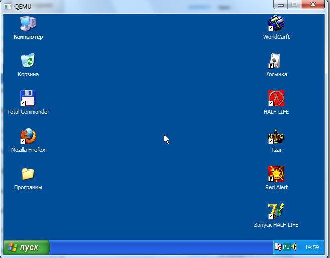Рабочий стол Windows через эмулятор QEMU