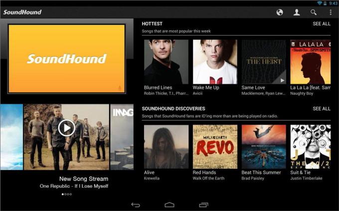 База песен SoundHound для Андроид