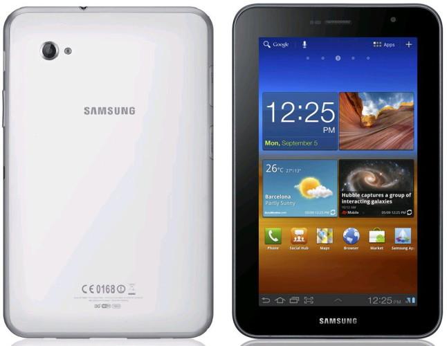Сравнение модели Samsung Galaxy Tab 7.0 plus