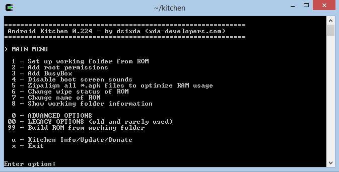 Установка программы Android Kitchen