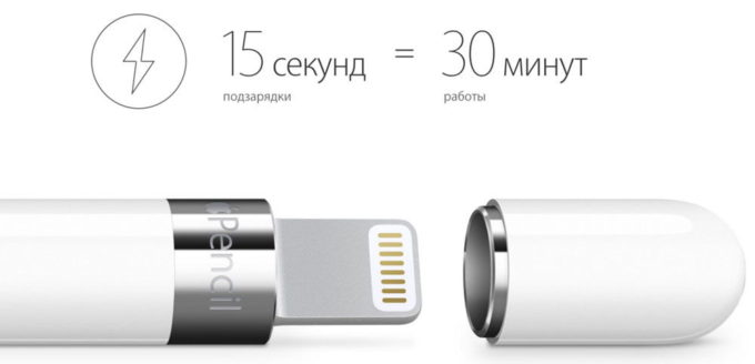 Время автономной работы Apple Pencil