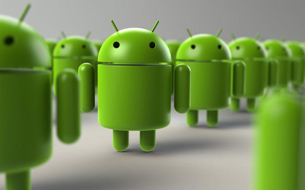 Множество роботов Android