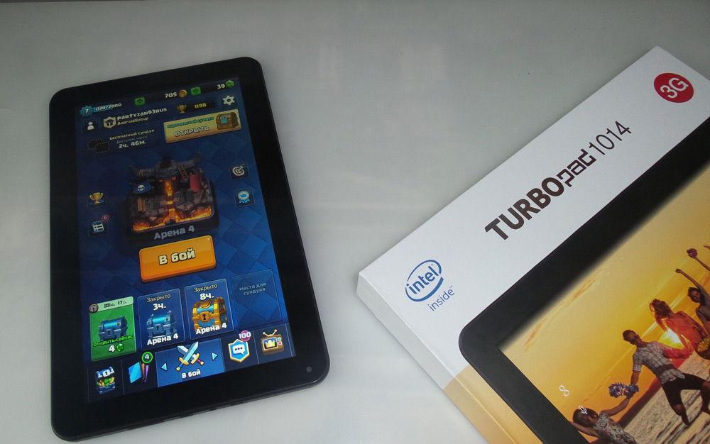 TurboPad 1014 и коробка