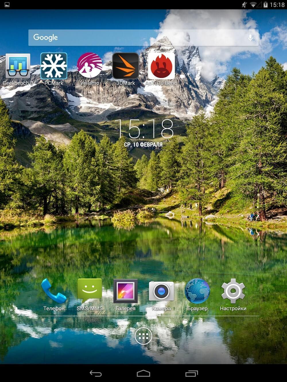 Экран планшета Mytab
