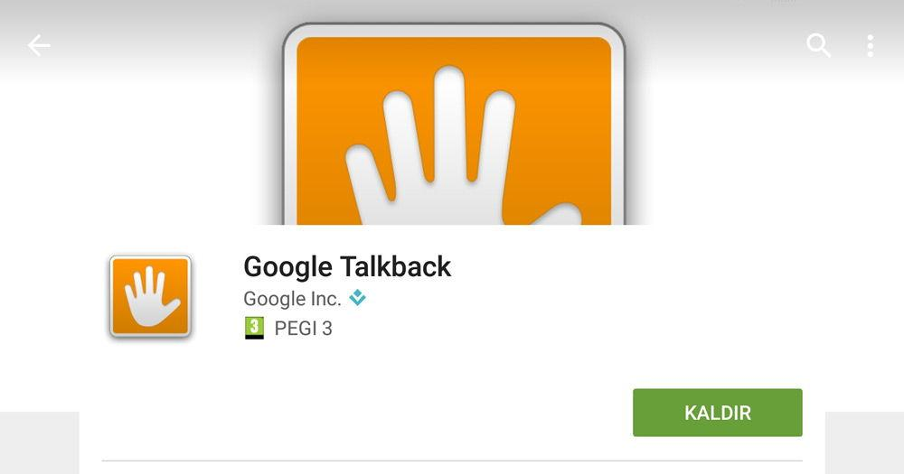 Google talkback приложение в Play Market