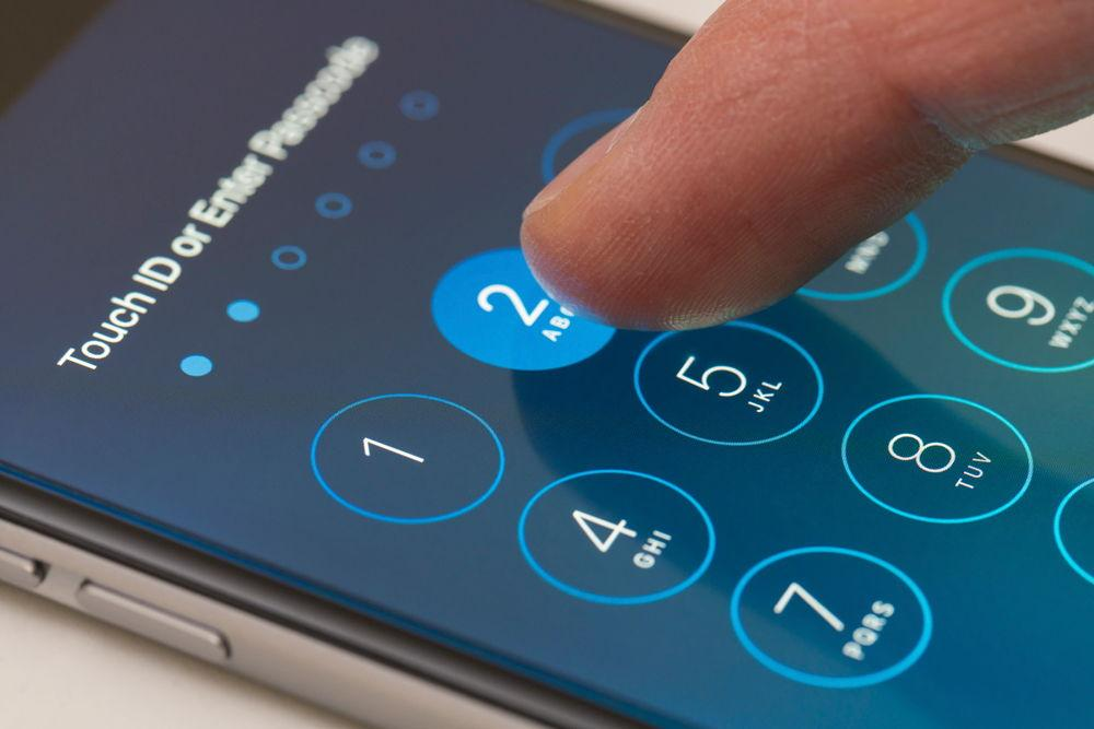 Ввод пароля на iPhone