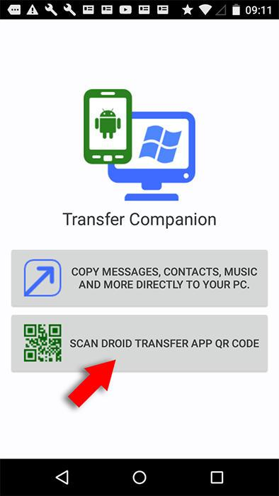 Перенос черезDroid Transfer
