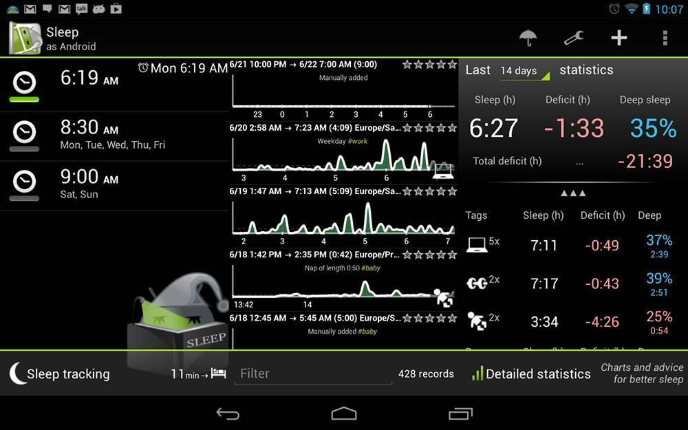 Sleep as Android от Urbandroid Team